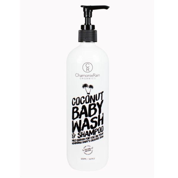 Chamonix Rain Organics Coconut Baby Wash and Shampoo