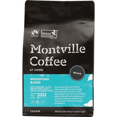 Montville Coffee Woodford Espresso Beans 250g