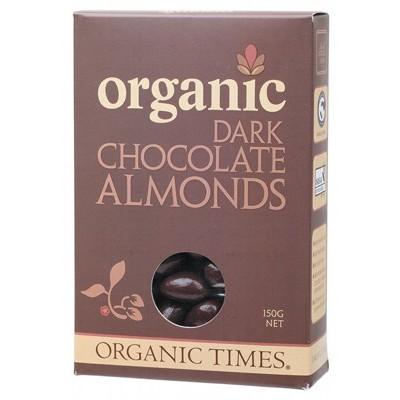 Organic dark chocolate almonds