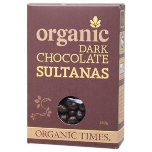 Organic Dark Chocolate Sultanas