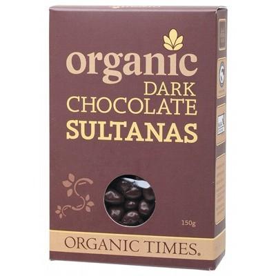 Organic Dark Chocolate Sultanas