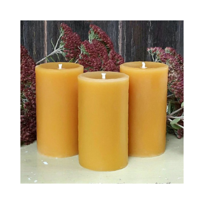 pure beeswax pillar